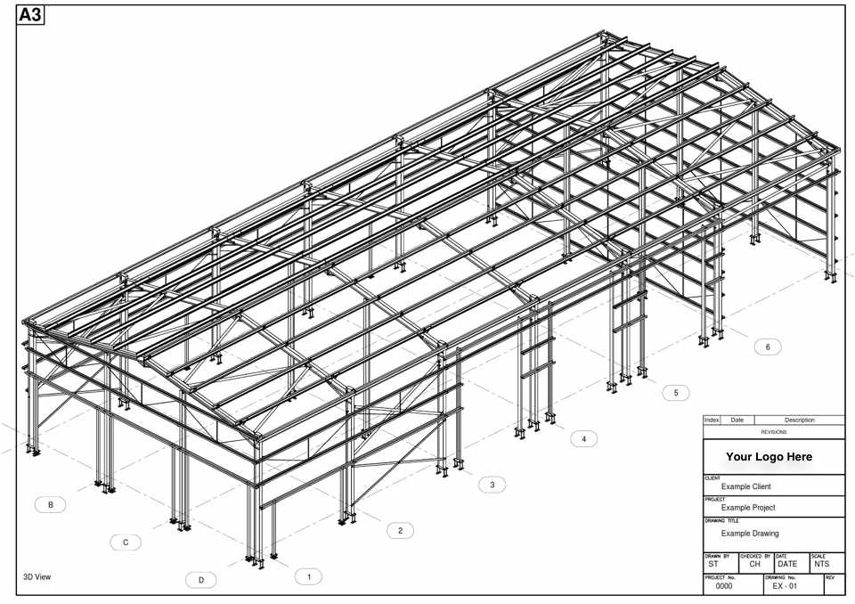 Steel Buildings Drawings General Arrangement Drawing of
