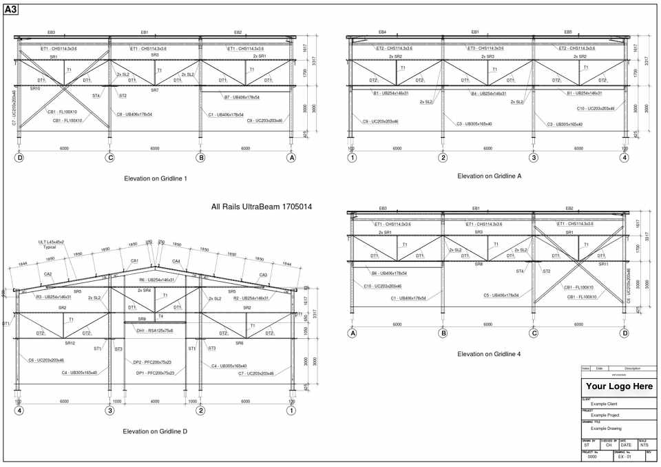 Steel Buildings Drawings Steel Fabrication Cad Drawings